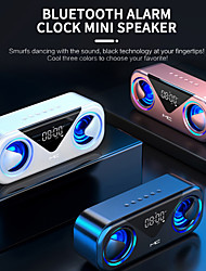 cheap -mc-h9 bluetooth speaker bluetooth 5.0 3000mah intelligent lithium battery wireless dual speaker with time/temperature display