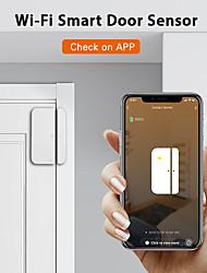 cheap -ALARMEST Tuya Smart WiFi Door Window Sensor Magnetic Detector Door Open / Closed Detectors APP Control Work With Alexa