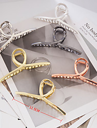 cheap -cross-border hot style metal gripping clip korean version of the large geometric cross hair gripping lady retro alloy gripping chuck jewelry