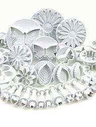 cheap -Plunger Fondant Cutter 33 Pcs Set Cake Tools Cookie Mold Biscuit Mould DIY Craft 3D Bakeware Sets Baking Accessories