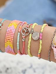 cheap -Women's Bead Bracelet Beads life Tree Boho Alloy Bracelet Jewelry Picture color For Date Festival