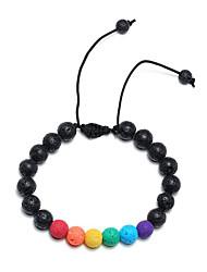 cheap -Natural Stone Chain Bracelet Beads Rainbow Stylish Stone Bracelet Jewelry Rainbow For Anniversary Gift Date Festival