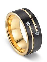 cheap -fashion domineering ring elegant aristocratic black slotted gold diamond