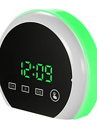 cheap -7 Colors LED Electronic Digital Alarm Clock Thermometer Night Light Glowing Cube LCD Clock Home Decor For Kids Table Desktop