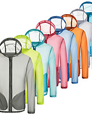 cheap -Women's Men's UPF 50+ UV Sun Protection Lightweight Jacket Zip Up Hoodie Jacket Windbreaker Cooling Sun Shirt with Pockets Quick Dry Packable Coat Top Hiking Fishing Outdoor Performance