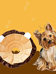 cheap -Dog Cat Pet Cone Pet Recovery Collar Elizabeth circle Adjustable Stress Relieving Safety Anti-Bite Lick Wound Healing After Surgery Protective Walking Avocado Bread Shaped Cotton Small Dog Brown