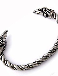 cheap -turtledove viking raven bracelet bangle - adjustable stainless steel norse scandinavian torc