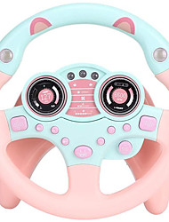cheap -Steering Wheel Toy with Lights Music, Cars Simulated Driving for Toddlers Portabl Pretend Play Toy Adsorption Driving Wheel for Kids Boys and Girls
