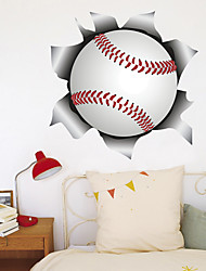 cheap -3D Broken Wall Baseball Softball Home Hallway Background Decoration Can Be Removed Stickers