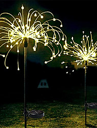 cheap -LED Solar Firework Lights 2pcs Set Outdoor Waterproof Fairy Garland 90 120 150 LEDs Light String Garden Lawn Street Landscape Christmas Decoration