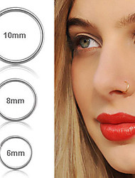 cheap -hoop titanium nose ring body piercing round set jewelry for women