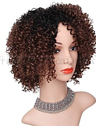 cheap -wigs  gradient color short curly hair wigs ladies hair wigs chemical fiber headgear manufacturers in stock
