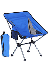 cheap -Beach Chair Camping Chair with Side Pocket Portable Ultra Light (UL) Foldable Washable Aluminum Alloy Oxford for 1 person Fishing Camping Camping / Hiking / Caving Outdoor Autumn / Fall Spring Sky