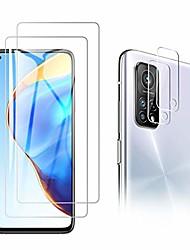 cheap -2PACK Phone Tempered Glass Protective Film For Xiaomi Mi 10T Mi 11 +2PACK Camera Len Film 9H Hardness Anti-Scratch Tmpered Glass Film For Mi 10T Lite Redmi Note 9T Poco X3 NFC Note 10 Lite