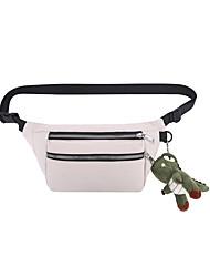 cheap -Women's Bags Fanny Pack Daily Bum Bag White Black