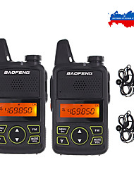 cheap -2pcs/lot baofeng t1 mini two way radio bf-t1 walkie talkie uhf 400-470mhz 20ch portable ham fm cb radio handheld transceiver