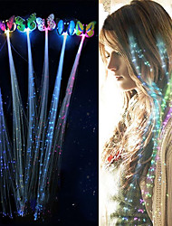 cheap -3 pcs LED Flashing Hair Braid Glowing Luminescent Hairpin Novetly Hair Ornament Girls Led Toys New Year Party Christmas Gift