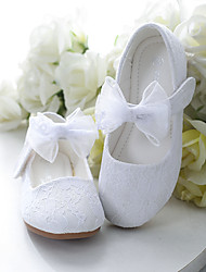 cheap -Girls' Flats Comfort Flower Girl Shoes Princess Shoes Lace Little Kids(4-7ys) Daily Party & Evening Pearl Flower White Pink Spring Summer
