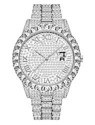 cheap -missfox fashion waterproof hip hop full diamond men's watch bracelet