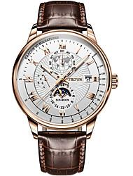 cheap -men's watch multi-function six-pin mechanical watch business waterproof leather belt
