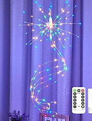 cheap -LED String Lights Hanging Starburst Firework Lights 200 LEDs Battery or USB Remote Control Operated Vine Branch Light Christmas Fairy String Light Foldable Garland Wedding Store Decoration Lamp