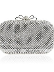 cheap -Women's Girls' Bags Alloy Evening Bag Crystals Event / Party Wedding Bags Handbags Chain Bag Silver
