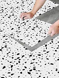 cheap -30*30cm 8pcs Creative Kitchen Bathroom Living Room Floor Sticker Non-slip Waterproof Wear-resistant Broken Star White Rock Terrazzo Floor Sticker