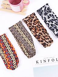 cheap -european and american hot-selling leopard print geometric exotic cross hairband elastic sports temperament headband versatile hair accessories