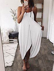 cheap -cross-border women's clothing aliexpress amazon ebay europe and the united states hot sale solid color knitted loose sexy irregular dress