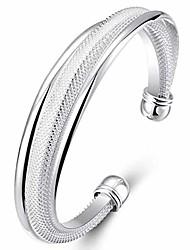cheap -925 sterling silver bangle bracelet, fashion women jewelry solid silver open bracelet gift