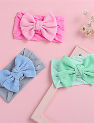 cheap -1pcs Toddler / Infant Girls' Active / Sweet Daily Wear Solid Colored Bow Nylon Hair Accessories Blue / Red / Green One-Size