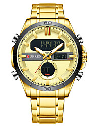 cheap -CURREN Men's Steel Band Watches Analog - Digital Quartz Modern Style Calendar / date / day Chronograph LED Light / One Year / Japanese