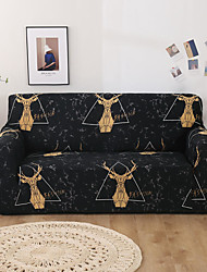 cheap -Sofa Cover Stretch Slipcovers Milu Deer Print Dustproof Super Soft Fabric Couch Cover Fit for 1to  4 Cushion Couch and L Shape Sofa (You will Get 1 Throw Pillow Case as free Gift)