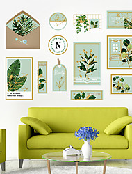 cheap -Wall Sticker Small Fresh Artistic Green Plant Photo Frame DIY Bedroom Porch Wall Beautification Decorative Wall Sticker