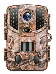 cheap -Trail Camera 20MP 1080P Hunting Game Cam with Night Vision Motion Activated, Waterproof Scouting Camera with 3 Infrared Sensors, 120° Detecting Range for Wildlife Monitoring