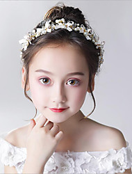 cheap -girls princess bowknot headdress korea pearl hair accessories little girl flower girl evening dress accessories wreath headband