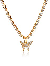 cheap -Women's White Cubic Zirconia Pendant Necklace Necklace Classic Butterfly Personalized Simple Fashion Classic Crystal Zircon Alloy Gold 35+5 cm Necklace Jewelry 1pc For Party Evening Street Gift