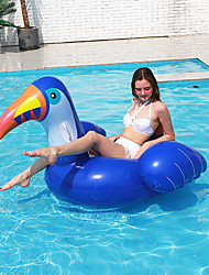 cheap -Children's Summer Cartoon Inflatable Blue Toucan Swimming Ring Anti-Rollover Floating Ring Water Park Floating Equipment