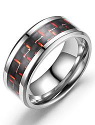 cheap -fashion three-color carbon fiber couple ring titanium steel ring