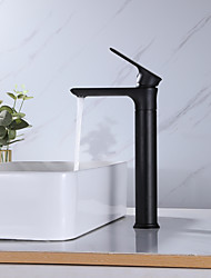 cheap -Bathroom Sink Tall Faucet Heavy Duty Style Single Handle One Hole Bath Vessel Sink Faucet Deck Mount Basin Hot and Cold Mixer Tap Lavatory Vanity Sink Faucets Brass Matte Black