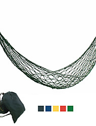 cheap -Camping Hammock Outdoor Portable Lightweight Comfortable Nylon for 1 person Fishing Climbing Camping Blue Red Green