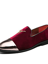 cheap -Men's Loafers & Slip-Ons Suede Shoes Tassel Loafers Dress Loafers Business Casual Classic Daily Party & Evening Walking Shoes Patent Leather Cowhide Non-slipping Wear Proof Booties / Ankle Boots Red