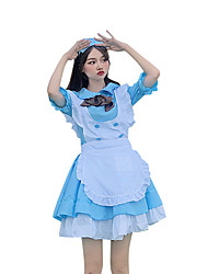 cheap -Inspired by Cosplay Cosplay Anime Cosplay Costumes Japanese Dresses Dress Bow Headwear For Women's