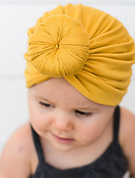 cheap -2018 european and american new baby products children's turban hat baby solid color knotted indian hood on amazon