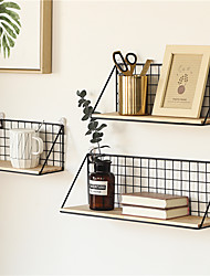 cheap -1 Piece Wall Floating Shelf Simple Nordic Style Hanging Storage Basket Sundries Holder