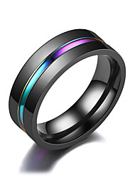 cheap -band ring fashion elegant black slotted colorful men's ring