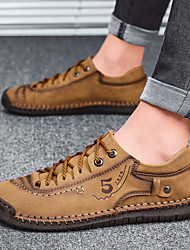 cheap -Men's Sneakers Crochet Leather Shoes Printed Oxfords Sporty Casual British Athletic Outdoor Walking Shoes Trail Running Shoes Nappa Leather Cowhide Warm Handmade Non-slipping Booties / Ankle Boots