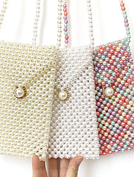 cheap -Pearl Mobile Phone Bag Hand-beaded Small Bag Three Colors, A Small Amount of Stock Can Be Customized