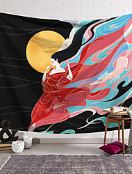 cheap -Wall Tapestry Art Decor Blanket Curtain Hanging Home Bedroom Living Room Decoration Polyester Chang'e
