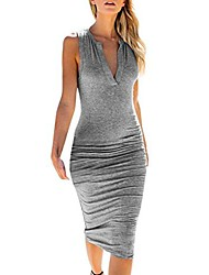 cheap -seryu womens fashion sexy dress v-neck sleeveless bodycon mini dress fashion sexy dress gray